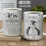 Penguin Jewelry Style Personalized PYR2001002Z Full Color Ceramic Mug