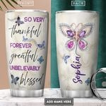 Butterfly Jewelry Style Personalized PYR2001006Z Stainless Steel Tumbler