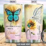 Butterfly Personalized NNR2001007Z Stainless Steel Tumbler