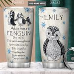 Penguin Jewelry Style Personalized PYR2001010Z Stainless Steel Tumbler