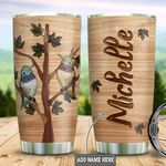 Personalized Hummingbird Tree Wooden Style DNM2001007Z Stainless Steel Tumbler