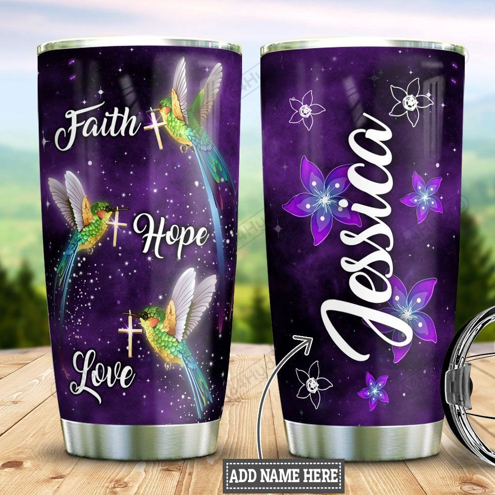 Personalized Hummingbird Faith DNM2001005Z Stainless Steel Tumbler
