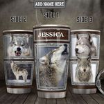 Personalized Grey Wolf Pictures 3D HLM2001003Z Stainless Steel Tumbler