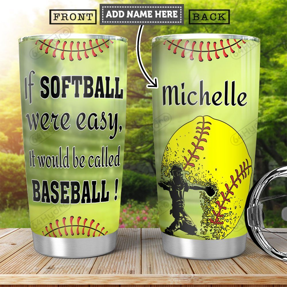 Softball KD4 Personalized HHA2001010Z Stainless Steel Tumbler