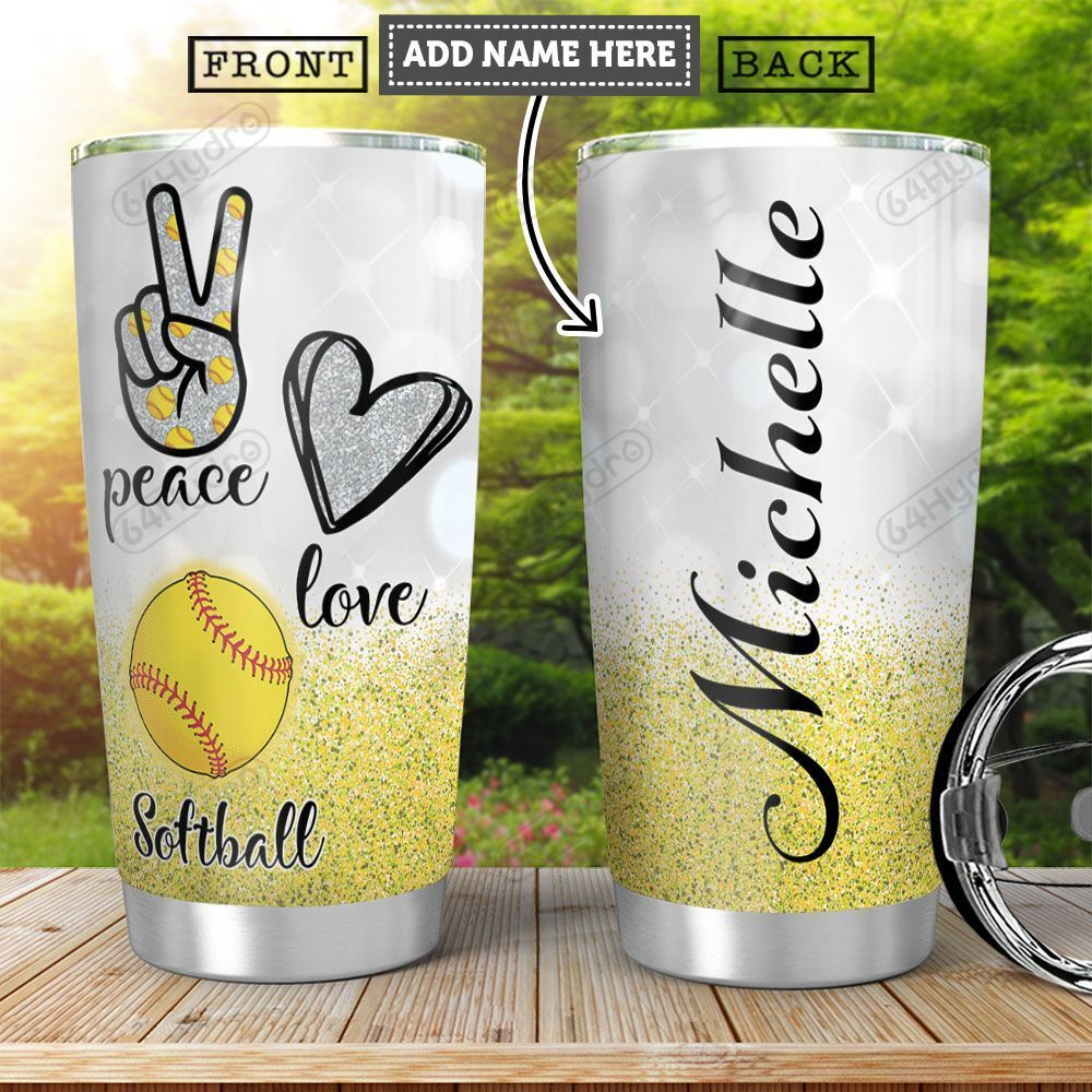 Softball KD4 Personalized HHA2001011Z Stainless Steel Tumbler