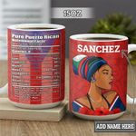 Personalized Puerto Rican Woman Facts TTZ1801011Z Full Color Ceramic Mug