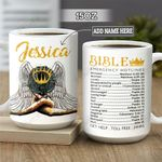 Personalized Black Women Bible Hotlines BGZ2101009Z Full Color Ceramic Mug