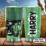 Tractor Farmer Personalized KD2 HAL2101010Z Stainless Steel Tumbler