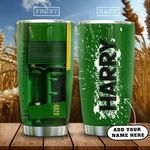 Green Tractor Farmer Personalized KD2 HAL2101002Z Stainless Steel Tumbler