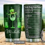 Personalized Irish Alcohol Nutrition Facts DNM2001008Z Stainless Steel Tumbler
