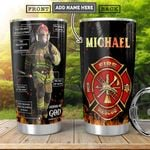 Firefighter Bible KD4 Personalized HHA2001002Z Stainless Steel Tumbler