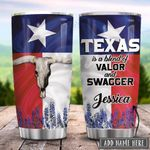 Texas Longhorn Personalized KD2 HRX2101004Z Stainless Steel Tumbler