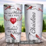 Im Not A Widow Cardinal Personalized KD2 HRX2101002Z Stainless Steel Tumbler