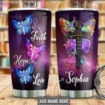 Faith Butterfly Personalized NNR2201003Z Stainless Steel Tumbler