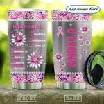 Metal Style Jewelry Breast Cancer Personalized KD2 HAL2201010Z Stainless Steel Tumbler