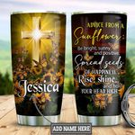 Personalized Butterfly Sunflower Advice TTZ2301004Z Stainless Steel Tumbler