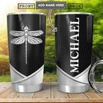 Dragonfly Silver Personalized HHA2301001Z Stainless Steel Tumbler