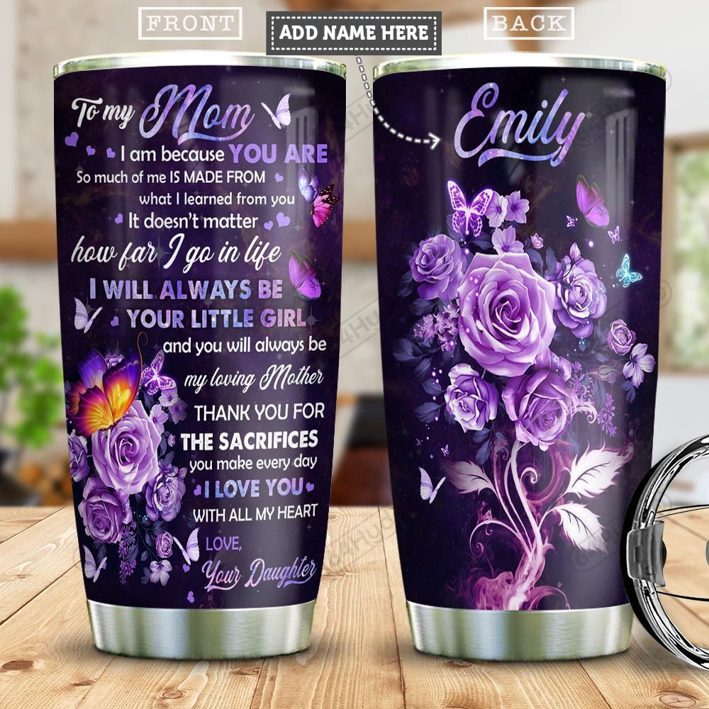 Butterfly To Mom Personalized PYR2301003Z Stainless Steel Tumbler