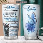 To My Mom Butterfly Personalized PYR2301008Z Stainless Steel Tumbler