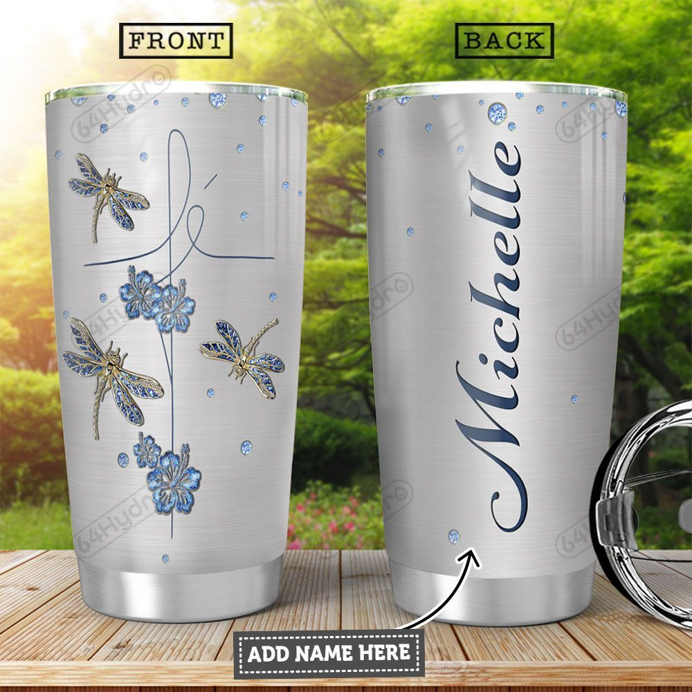 Fe Dragonfly KD4 Personalized HHA2501007Z Stainless Steel Tumbler