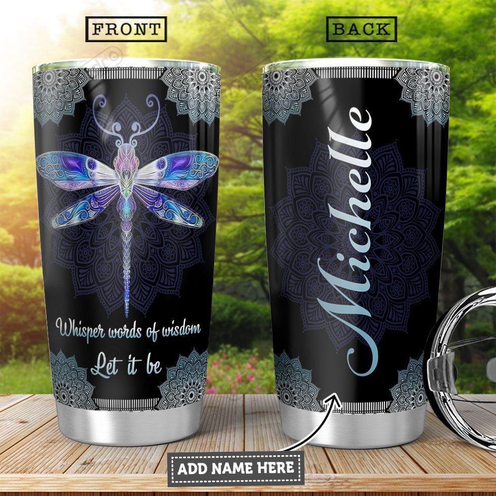 Mandala Dragonfly KD4 Personalized HHA2501005Z Stainless Steel Tumbler