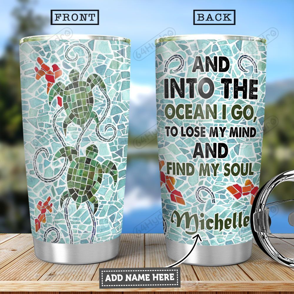 Turtle Mosaic KD4 Personalized HHA2501001Z Stainless Steel Tumbler