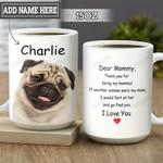 Personalized Pug Mommy HLM2501001Z Full Color Ceramic Mug