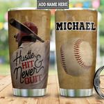 Personalized Baseball Never Quit HLM2501003Z Stainless Steel Tumbler