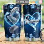 Personalized Dolphin Heart HLM2501006Z Stainless Steel Tumbler