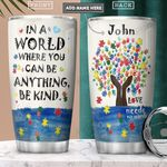 Autism Personalized PYR2501008Z Stainless Steel Tumbler