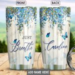 Butterfly Faith Personalized NNR2501009Z Stainless Steel Tumbler