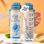 Personalized Butterfly Sunflower Faith TTZ2501001Z Water Tracker Bottle