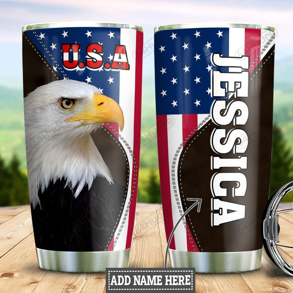Personalized American Eagle Patriot TTZ2501004Z Stainless Steel Tumbler