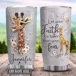 Giraffe Faith Jewelry Style Personalized KD2 HRX2501004Z Stainless Steel Tumbler