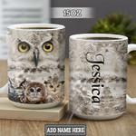 Personalized White Owl TTZ2601026Z Full Color Ceramic Mug