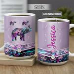 Personalized Purple Elephant BGZ2601022Z Full Color Ceramic Mug