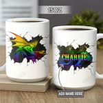 Personalized LGBT Dragon DNM2601003Z Full Color Ceramic Mug