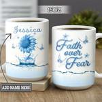 Personalized Butterfly Sunflower Faith TTZ2601008Z Full Color Ceramic Mug