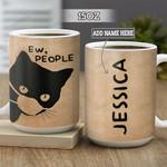 Personalized Black Cat Ew People BGZ2601007Z Full Color Ceramic Mug