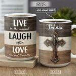 Faith Personalized NNR2601005Z Full Color Ceramic Mug