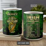 Irish Facts KD4 Personalized THA2601015Z Full Color Ceramic Mug