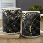 Leather Style Black Cat Climb KD2 MAL2601018Z Full Color Ceramic Mug