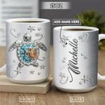 Sea Turtle Motherhood Jewelry Style Blue Personalized KD2 HRL2601025Z Full Color Ceramic Mug