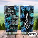 Turtle Couple To My Wife Personalized KD2 HAL2501013Z Stainless Steel Tumbler