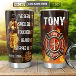 Retired Firefighter Personalized HHA2701008Z Stainless Steel Tumbler