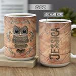 Personalized Owl BGZ2701011Z Full Color Ceramic Mug