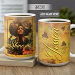Personalized Black Women Shine On BGZ2701001Z Full Color Ceramic Mug