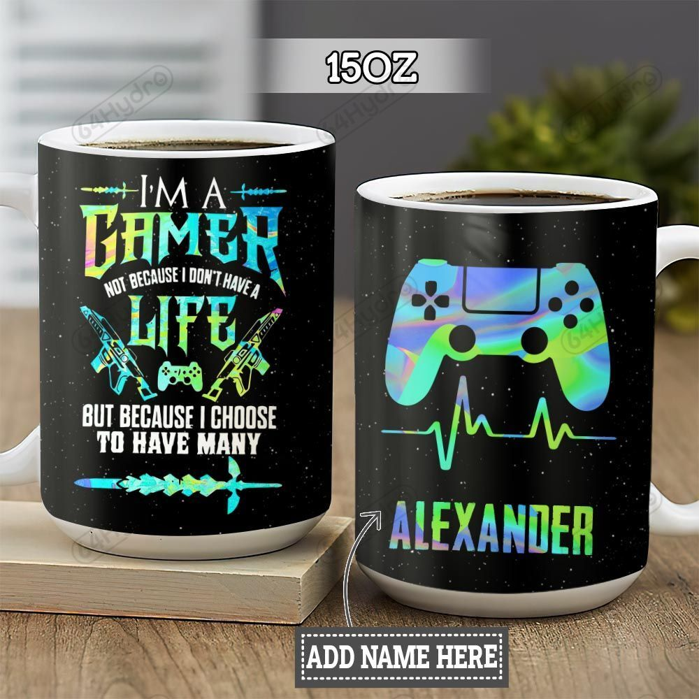 Hologram Color Gamer Personalized KD2 HNL2701008Z Full Color Ceramic Mug