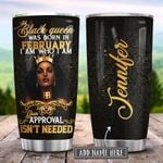 Black Queen February Personalized KD2 HRL2701017Z Stainless Steel Tumbler