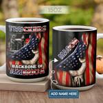 Truckers Backbone Of America Personalized KD2 HAL2701015Z Full Color Ceramic Mug